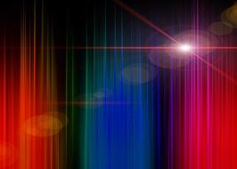 spectrum with lens flare, psychedelic background