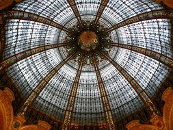beautiful dome of Galeries Lafayette, france,paris