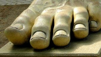 foot sculpture stone ten art