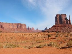 monument valley, rock formations in desert, usa, utah