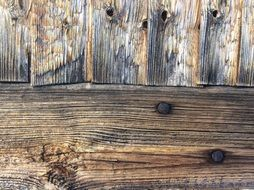 wood old aged nail building