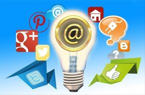 e-mail, social media, communication icons