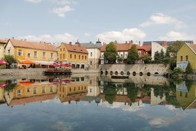 tapolca hungary lake houses water