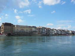 Basel city river view