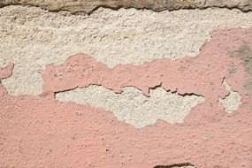 Pink old wall plaster