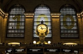 clock in grand central station, usa, manhattan, nyc