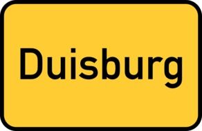 duisburg yellow town sign city