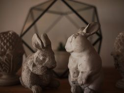 rabbits, vintage home decor, thailand