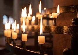 the candles in the Christian church