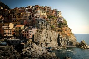 cinque ,terre, italy ,houses ,mountains