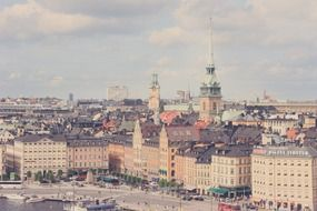 old town cityscape, sweden, stockholm