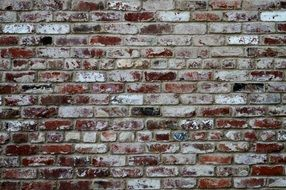brick wall texture background old red brick