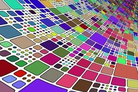 colorful squares table