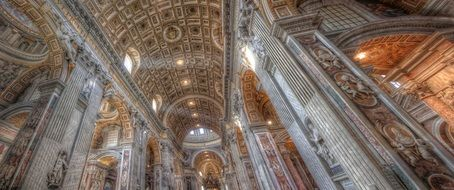 vatican rome italy church top view europe
