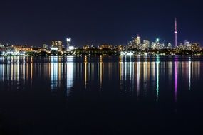 night city at waterfront, skyline