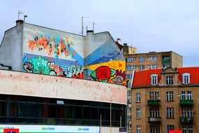 mural painting in Poznan