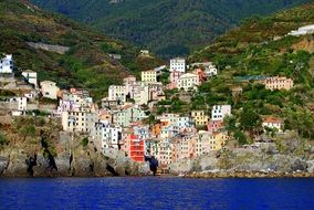 houses colors colorful sea