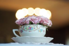 wedding tea cup flower