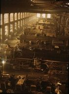 locomotive shop railroad engines