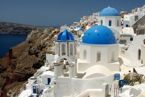 View of the Santorini architecture, Cyclades