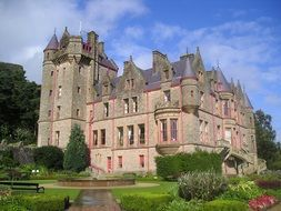 medieval Belfast Castle at summer, uk, northern ireland