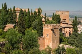 View of the fortress of the Alhambra Granada in Spain