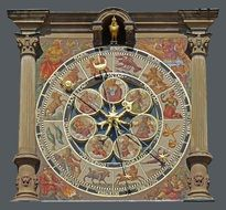 astronomical clock of town hall, germany, heilbronn