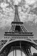 Bottom view of Eiffel Tower, a global cultural icon of France