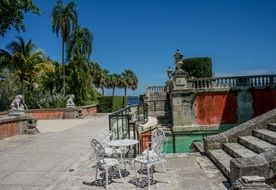 Villa Vizcaya is located in the Coconut Grove area of Miami, USA