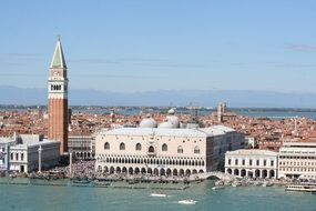 piazza san marco in cityscape, italy, venice