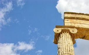 olympia greece column antique