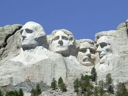 stone carved presidents' faces, Mount Rushmore National Memorial, usa, south dakota