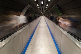 escalator in underground, uk, london