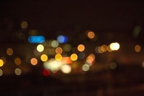 blurred night street lights