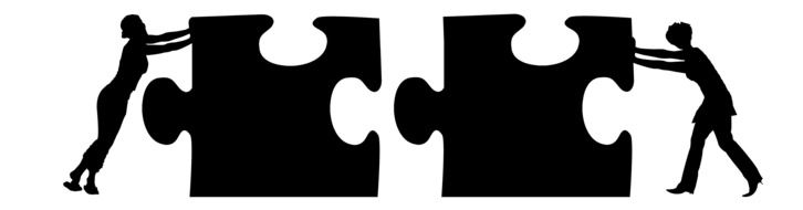 business world cooperation puzzle