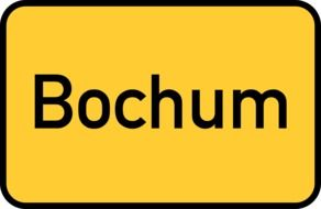 bochum yellow town sign city limits