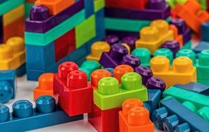 colorful blocks develop construction play