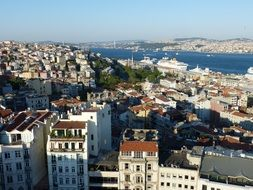 view of istanbul turkey bosphorus sea