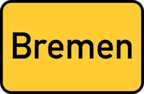 bremen yellow town sign city limits