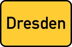 dresden yellow town sign city limits