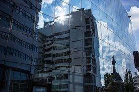 netherlands hague buildings reflection