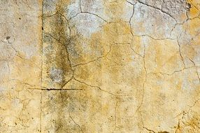 aged painted wall, cracked background