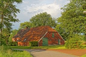 Old brick house in east frisia