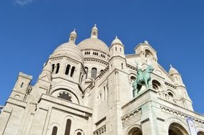 sacred heart paris blue sky