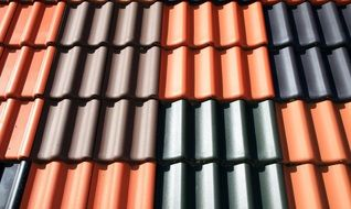 colorful tiles on roof