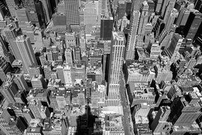 top view of new york city downtown, usa, manhattan