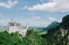 Neuschwanstein Castle is a nineteenth-century Romanesque Revival palace in southwest Bavaria, Germany