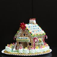 gingerbread house christmas pastries