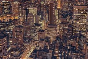 buildings in new york at night