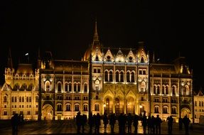 budapest parliament building by night